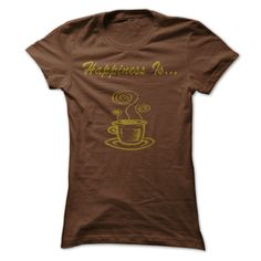 Happiness Is Coffee T Shirts, Hoodies. Get it here ==► https://www.sunfrog.com/LifeStyle/Happiness-Is-Shirts-[Hot]-29600589-Guys.html?41382