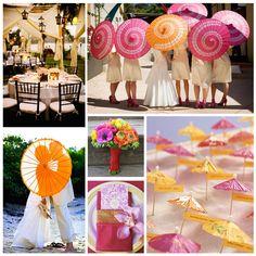 Bridal Shower Umbrella Centerpiece - Wedding and Bridal Inspiration Orange Wedding, Summer Wedding, Our Wedding, Dream Wedding, Wedding Ceremony, Rustic Wedding, Destination Wedding, Bridal Shower Umbrella, Umbrella Wedding