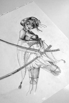 Tattoo sketch, Nat-Art Tattoo, Natascha Sastra.