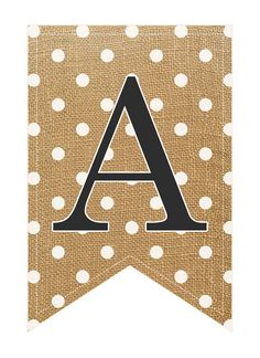 So...how do you feel about Burlap and Polka Dots? I hope you enjoy our Complete Burlap Alphabet & Number Banner Set!