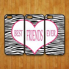 iphone 5C case,3pcs,Best Friends forever,zebra pattern,iphone 5 case,iphone 5s case,iphone 4 case,iphone 4S case,ipod 4 case,ipod 5 case on Etsy, $42.88