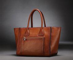 Large Leather Tote Bag-Shopper-Ipad-MacBookBag- Shoulder Bag Leather Satchel /Briefcase Bag handbag/purse/handbags Bags in Retro Brown