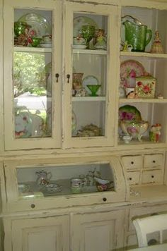 this Cottage hutch . . . the dishes that I display.  love the validation!