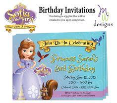 Princess Sofia the First - Birthday Invitation - Printable