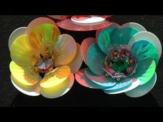 EMBROIDERY: FLOWER with SEQUINS \ ВЫШИВКА: ЦВЕТОК ИЗ ПАЙЕТОК - YouTube