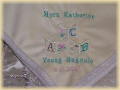 Custom Embroidered Baby Blankets Embroidery Faux Suede Personalized Embroidered Baby Blankets, Infant Toddler, Machine Embroidery, Children, Kids, Quilting, Monogram, Babies, Crafts