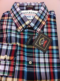NWT$260+tax  Paul & Shark Italian Chic lovely Yachting lux Casual shirt  XL/44US #PaulShark #ButtonFront