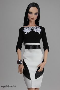 Barbie Dolls : New outfit for Kingdom Doll / Deva Doll / Numina/ 10 Doll Clothes Barbie, Barbie Dress, Moda Fashion, Fashion Dolls, Glamour Dolls, Barbie Fashionista, Barbie Patterns, White Fashion, New Outfits