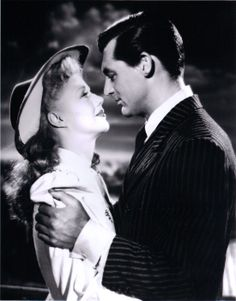 Ginger Rogers Once Upon a Honeymoon with Cary Grant 1942 - One of the most romantic moments on film.