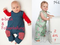 """Kombipaket Baby Overall """"Lotte"""" und """"Arturo"""""""