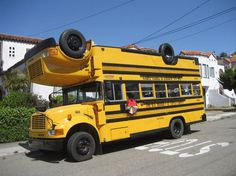 Welding Two School Buses Together Makes A Fine Political Statement