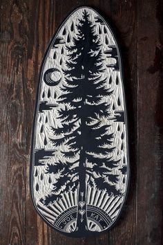 Linocut tree