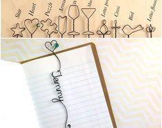 Segnalibro personalizzato con cuore e perle, filo segnalibro con cuore personalizzato