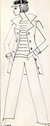 1962 - Yves Saint Laurent'caban' sketch