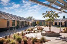 Evergreen School District, New Tech Network, Bulldog Tech. Gen7 prefab, green school Eco Friendly, Tech, Mansions, House Styles, School, Building, Outdoor Decor, Green, Projects