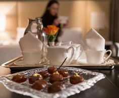 Amenity at the Four Seasons Hotel in Milan, Italy - gold and tea
