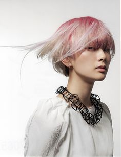 #pastel pink roots #platinum blonde #varin salon