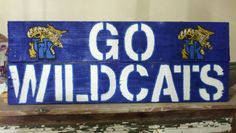 Kentucky Wildcats Wooden College Sign by oZdOinGItagaiN on Etsy, $45.00