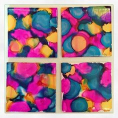 Alcohol Ink Coasters from February's TO DIY FOR Box by #darbysmart #diy Get it.