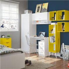Ambiente Office Maison Madesa Branco/Amarelo