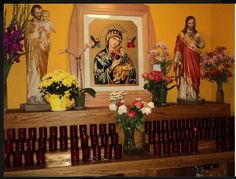 Beautiful display, Our Lady of Perpetual Help, pray for us.