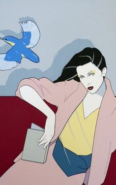 Piedmont Book Company Blue Bird 1979 Serigraph by Patrick Nagel From edition of 250