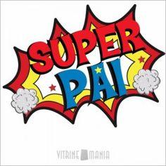 Adesivo de Vitrine Dia dos Pais Super Pai