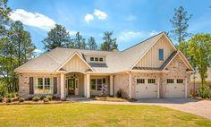 Designer Builders - Aiken SC - brick and board & batten, cottage, light exterior