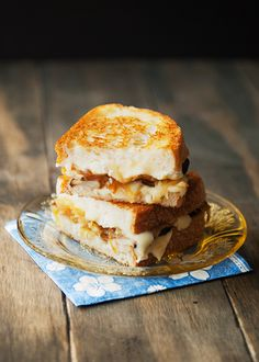 grilled brie porcini and caramelized onion sandwich recipe | use real butter