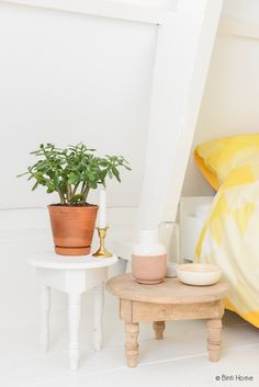 Slaapkamer restyling nachtkastjes // tables via Bintihomeshop.nl ...