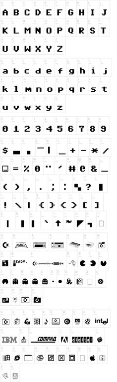 commodore 64 - a great font designed after quite possibly the best computer ever made.