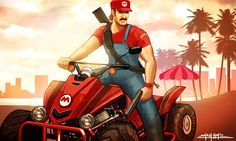 GRAND THEFT MARIO – 8 illustrations de Amirul Hafiz