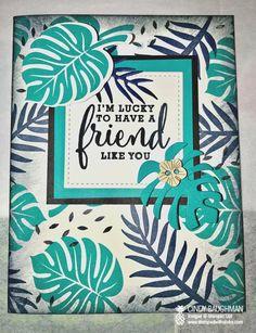 Tropical Escape Friendship Card - www.stampedwithaloha.com