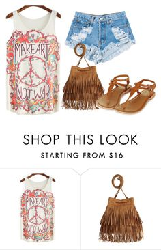 """Make Art, Not War"" by danielle-nicz ❤ liked on Polyvore featuring Levi's, H&M and Topshop"