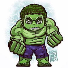 Hulk by Lord Mesa Chibi Marvel, Hulk Marvel, Marvel Dc Comics, Marvel Heroes, Ms Marvel, Captain Marvel, Chibi Characters, Marvel Characters, Vision Marvel