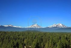 Three Sisters Mountains in Oregon