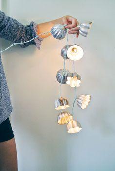 18 Decorative String Lights DIY Ideas Diy Vintage, Vintage Crafts, Vintage Style, Vintage Ideas, Vintage Theme, Vintage China, Vintage Metal, Diy And Crafts Sewing, Diy Crafts
