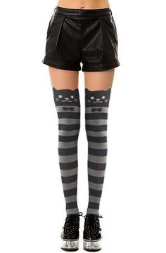 I just love these! There are a few other styles but these are my favorite! Striped Knee High Catyhose