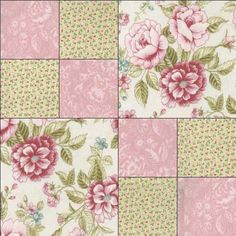 Shabby Rose Cottage Floral Pink Quilt Kit Precut Fabric