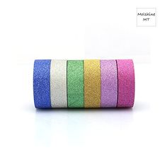 Molshine 6 x 328ft 58 Rolls Decorative Glitter Sparkle Colorful Japanese Washi Masking Adhesive Sticky Paper DIY Tape for Crafts Scrapbooks Day Planners Phone DIY Decoration -- You can get more details by clicking on the image.Note:It is affiliate link to Amazon.