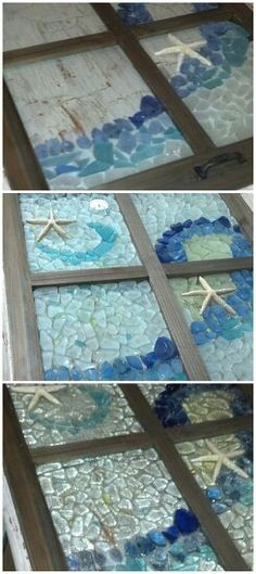 Sea glass, picture frame, and epoxy resin...came out so much better than I expected!