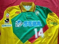 JEF United Ichihara Chiba Casa camisa de futebol 1992 - 1993