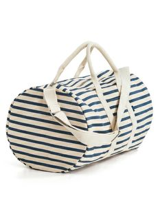 #Nautical Stripe Duffel Bag