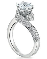 1.25 ct round gia art deco swirl band diamond engagement ring