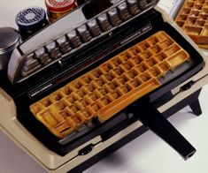 Geeky Kitchen Gadgets You Need To Own - Keyboard Waffle Iron
