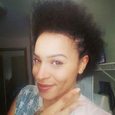 Faux hawk on my natural curly hair #natural #naturalhair #curlyhair #curls #pretty #mixedchicks #mixedhair #blackhair