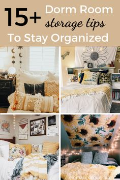 All of the storage and organization products that you need for your college dorm room! Here, you'll find ideas for your closet, desk, and under bed. These hacks are the best space saving storage options! Tips on things like shelves, ways to store your clothes, and just how to organize you college dorm room in a minimalist way. Click to see all 15! #college #dormroom #storage #organization Cozy Dorm Room, Dorm Room Storage, Dorm Room Organization, Cute Dorm Rooms, Space Saving Storage, College Dorm Checklist, College Dorm Essentials, College Hacks, Diy Dorm Decor