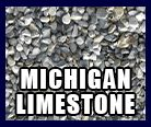"Michigan Limestone: Our coarse aggregate is a 7/8"" X 2"" product that works well in stabilizing wet or muddy roadways.  It makes an excellent base material and is still suitable for driveways. Other uses include sewer and railroad ballast"