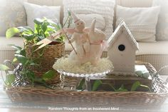 Random thoughts from an incoherent mind: Time for a little Easter (coffee table vignette)