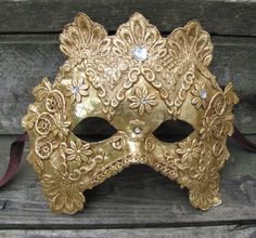 Gold Venetian Masquerade mask Byzan by ladyinthetower on Etsy, $69.00